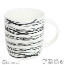 12 oz nouvelle tasse en porcelaine de Chine avec la conception de décalque