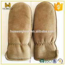 Warm pele de carneiro pele de corte luvas de couro homens luvas de couro