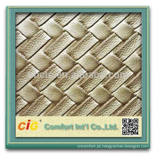 Couro decorativo decorativo do papel de parede / PVC do PVC com metálico / PVC decorativo com perolado