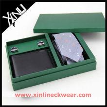 Fabricante de caixa de madeira de gravata de botão de punho de cinto