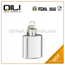 promotional 1oz stainless steel silver mini hip flask