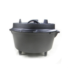 Heavy Duty Portable Cast Iron Camping Dutch Oven, Outdoor Cookware