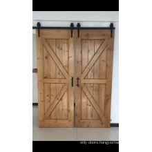 Cheap DIY ceiling mounted changing room partition sliding barn door