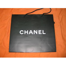 Promotional Paper Shopping Bag Silver Logo