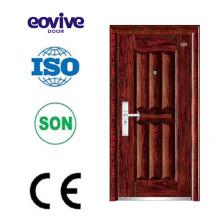 Personalizados porta francesa feita a porta de segurança de aço personalizado de porta de entrada