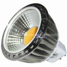 Dimmable MR16 COB LED 5W lámpara de proyección 90degree