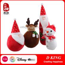 2017 Nueva Navidad rellena muñecas de peluche de encargo suave de peluche
