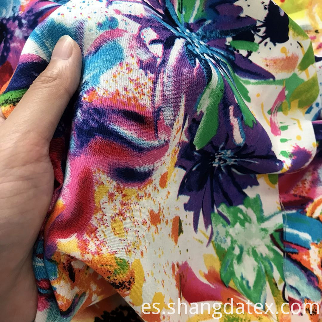 abstract semi digital print fabric