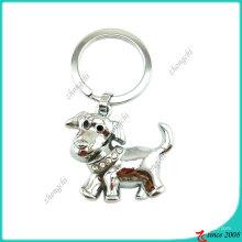 Corrente chave do metal de prata do cão do metal (KC)