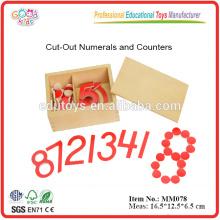 Montessori Material Number Count Math Toys