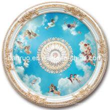 Plafonnier artisanal élégant en fibre de verre avec décoration anges (BRRD15-F1-024)