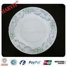 "9"" Round opal glass food plates"