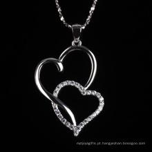 Romatic amor moda coração para colar de jóias de forma de coração