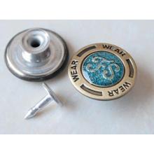 Серебро Перемещение Кнопки Джинсы B291