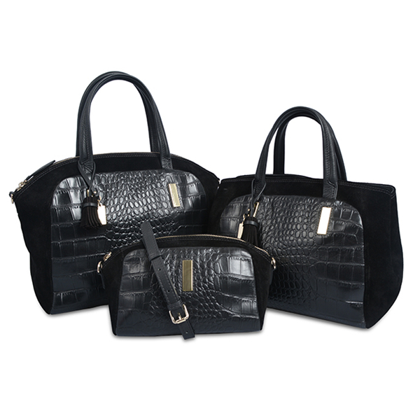 high quality crocodile skin pattern leather hand bag