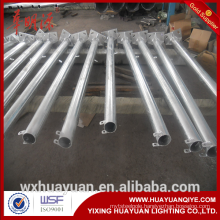 Round conical hinged or folding hot dip galvanized steel street lighting pole and outdoor lamp post price