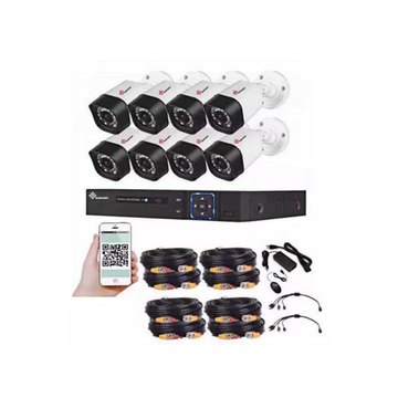 Kit CCTV Full HD IR AHD de 8 canales