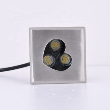 1W 3W stainless steel 12V square led inground