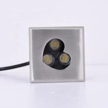 1 Вт 3 Вт квадратный светодиод из нержавеющей стали 12 В