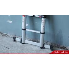 Echelle télescopique en aluminium de 3,8 m avec système de fermeture amortie EN131-6 ANSI Warenwet AS / NZS CAN3-Z11-M81