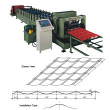 Glazed cold roll forming machine