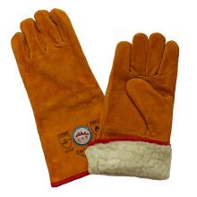 Boa Full Lining Cowhide Split Leather Зимние сварочные перчатки
