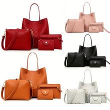 Designer Large Capacity 4 Piece tote bags Women Leather shoulder Handbags Pu Hand bag Set