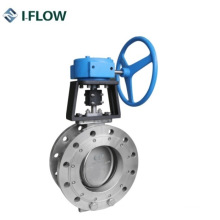 CF8m Wcb Double Flanged Double Eccentric High Performance Butterfly Valve