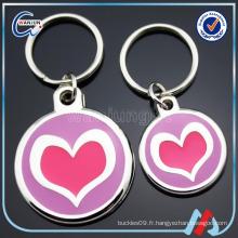 Logos d'amour promotionnels forme circulaire étiquette de chien de métal