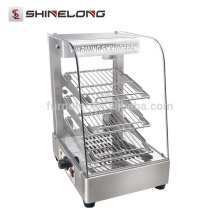 K423 2 Layers Luxurious Stainless Steel Warming Showcase