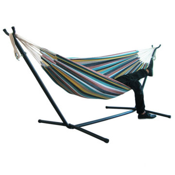 200*150cm Durable Comfort Thick Canvas Stripe Outdoor Canvas Hanging Hammock Chair Swing Without Shelf