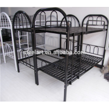 Good price student dormitory metal double bunk beds for school furniture