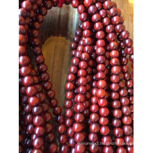 Small Size Red Sandalwood Wood Beads