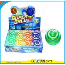 Diseño de la novedad Christmas'gift LED de caucho 75 mm de onda intermitente Impreso Air Bouncy Ball