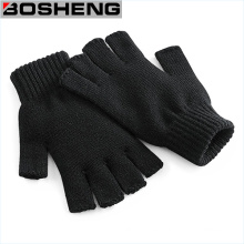 Guantes tejidos sin dedos, medio grueso, guantes