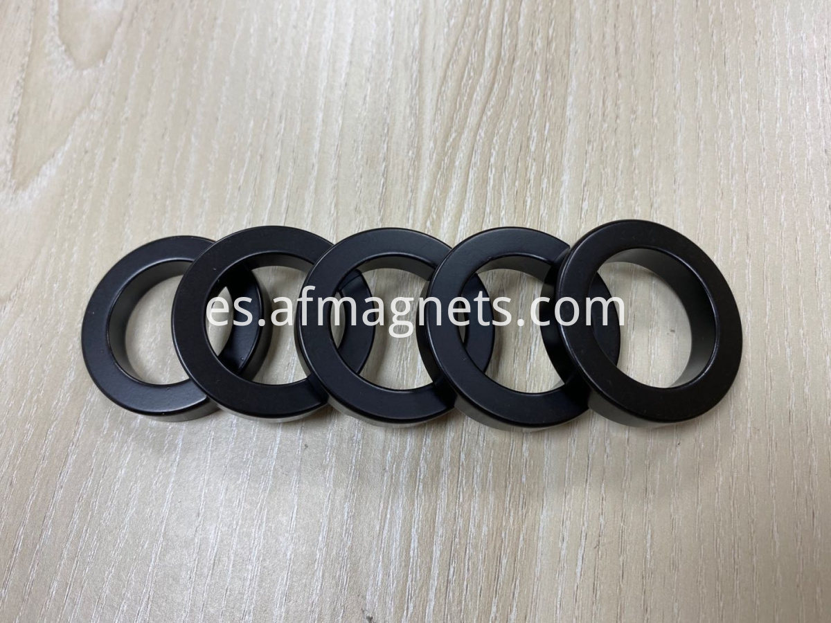 Neodymium Ring Magnets With Black Epoxy Coating