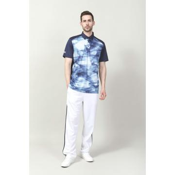 MÄNNER DIGITAL PRINTED RIB COLLAR GOLFER