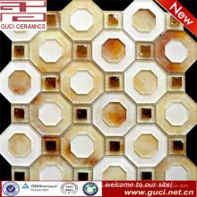 Polygon fashion DesignAcrylic Mosaic Glass Tiles na decoração do quarto