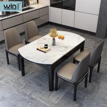 Italian Luxury Round Modern Dining Table Set