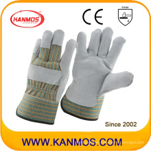 Guantes de trabajo de piel de vaca de seguridad industrial de trabajo (110072)
