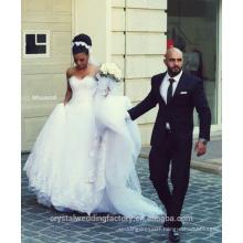 Charming Design vestido de noivaTop Crystal Luxury Wedding Dress Lace Bridal Gown Wedding Dresses CWF2358