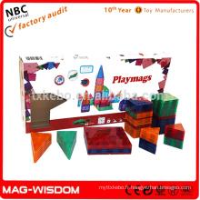 Playmags Nouveaux blocs de mosaïque de construction magnétique Jouets 3D Ensembles 92pcs