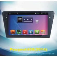 Système Android Tracker GPS pour Peugeot 408 avec lecteur DVD de voiture