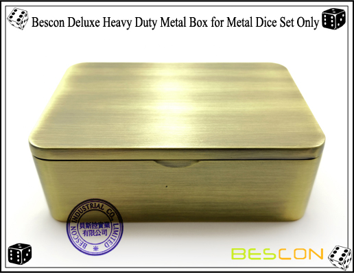 Bescon Deluxe Heavy Duty Metal Box for Metal Dice Set Only-4