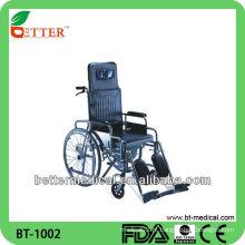 Cadeira de rodas de cômoda reclinável