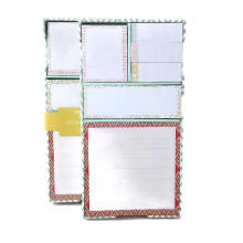 Wholesale Bulk Shaped Hard Cover Custom Sticky Note Book,Sticky Memo Pad