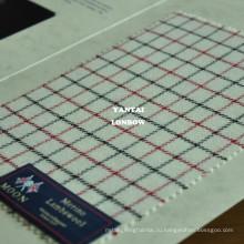 тэттерсел сплетенный шерстяной красный и Черный квадрат ткань в Англии