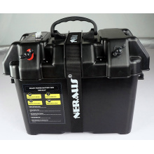 Elektrischer Trolling Motor Smart Battery Box Power Center Schwarz