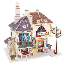 Wood Collectibles Toy for Global Houses-Britain Tea House