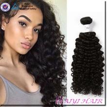 Rohes unverarbeitetes grade 9a reines malaysisches lockiges Menschenhaar 100% rohes jungfräuliches Haar